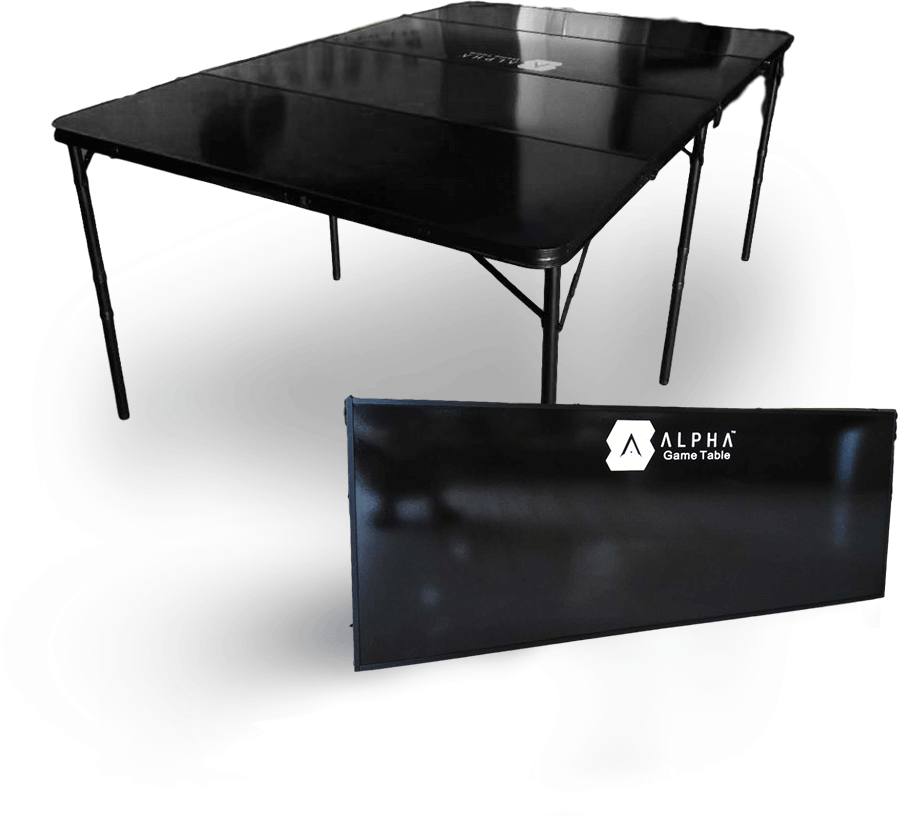 ALPHA Game Table the best 6x4 Gaming Table that moves with you 2